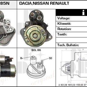 Electromotor Dacia/Renault 1.5 dci