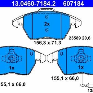 Set placute frana ATE- Audi A1, Audi A3, Seat , Skoda, WV
