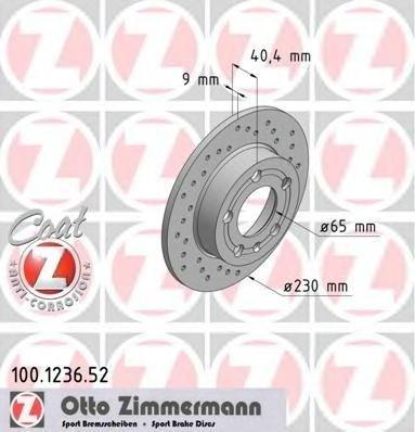 2 discuri frana spate zimmermann sport cu r230mm