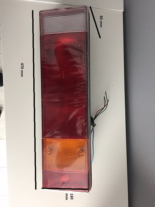 2 x lampa spate, stop spate, tripla 7 functii