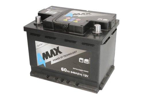 4Max baterie auto 12v 60ah 540a