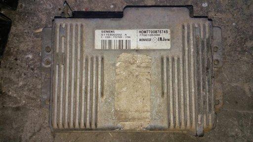 7700105980,calculator(ecu) motor renault megane scenic 1,6 e HOM7700875745 S115300202A