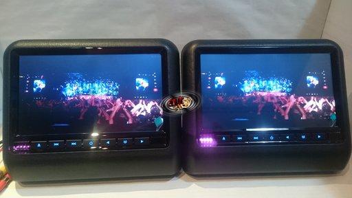 "9 "" LCD cu DVD USB SD prindere pe tetiera"