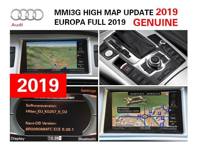 ACTUALIZARE HARTI 2019 AUDI MMI 3G HDD HNAV EUROPA 6 28 2 ROMANIA