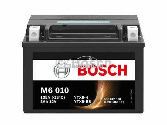 Acumulator baterie motociclete BOSCH M6 8 Ah 80A tip AGM 0 092 M60 100 piesa NOUA