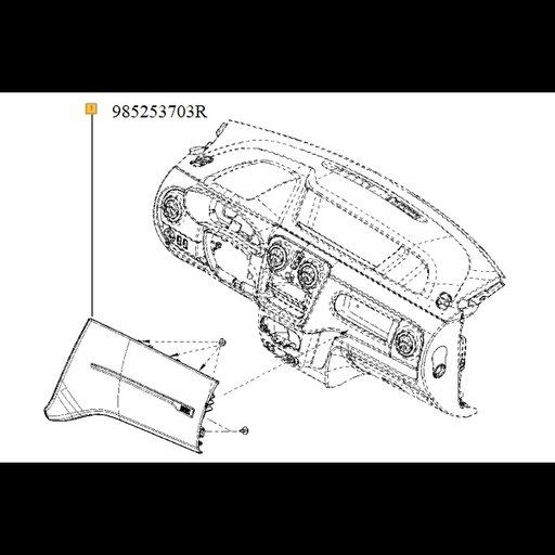 Airbag pasager Dokker|Van StepWay
