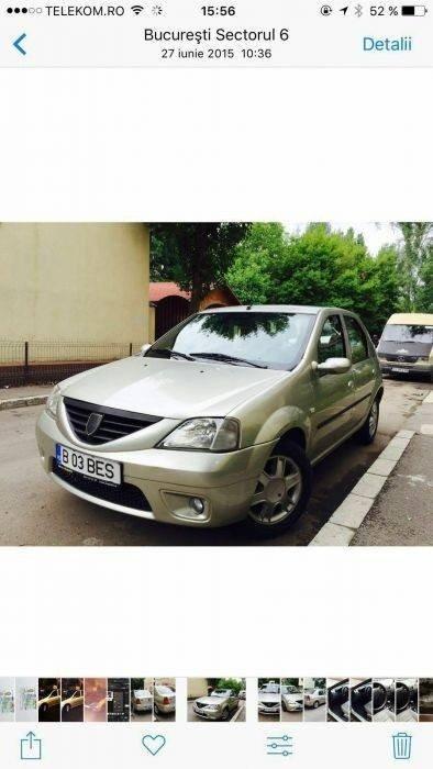 Amortizor fata dreapta Dacia Logan 1.6 benzina 200
