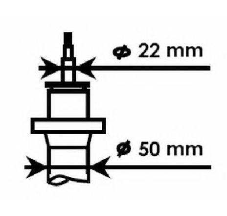 Amortizor SEAT LEON 1P1 PRODUCATOR KYB 324703