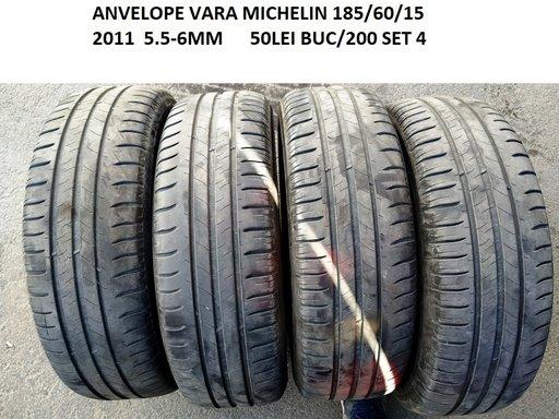 Anvelope vara MICHELIN 185/60/15 2011 5.5-6MM 50LEI BUC.200 SET 4