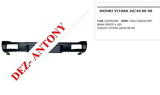Bara spate 4 usi Suzuki Vitara 2d / 4d