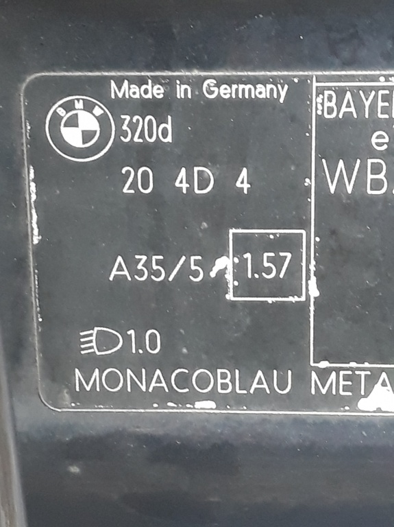 Bara spate Bmw E90 berlina( culoare MONACOBLAU METAL- A 35 /5 )