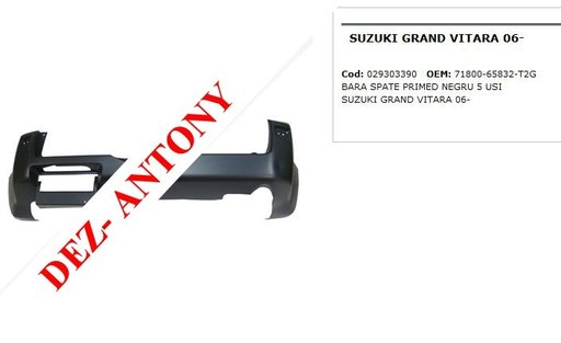 Bara spate primed negru 5 usi Suzuki Grand Vitara