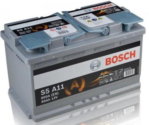 BATERIE BOSCH START-STOP AGM S5 A11 12V 80AH 800A 315X175X190 +DR0 (0 092 S5A 110)