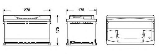 Baterie de pornire AUDI 100 Avant (4A, C4) (1990 - 1994) EXIDE EB712