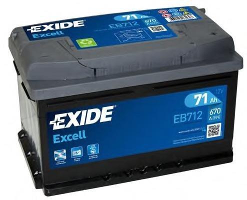 Baterie de pornire AUDI 90 (8C, B4), AUDI 80 Avant (8C, B4), AUDI 500 (43, C2) - EXIDE EB712