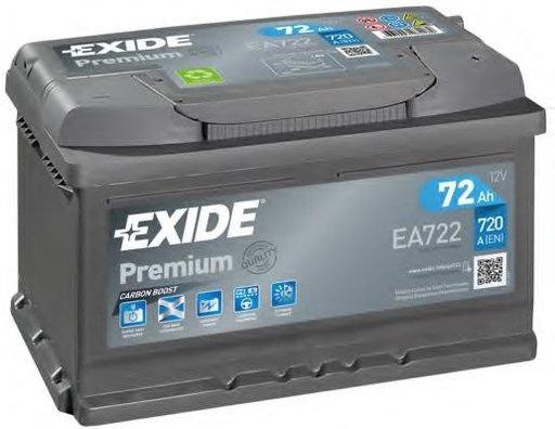 Baterie de pornire AUDI 90 (8C, B4), AUDI 80 Avant (8C, B4), AUDI 500 (43, C2) - EXIDE EA722