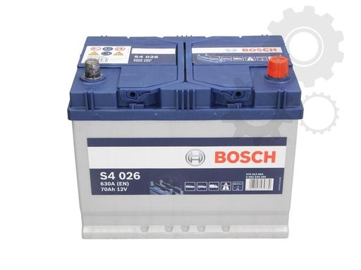 Baterie de pornire Bosch S4 argint 70ah 630a
