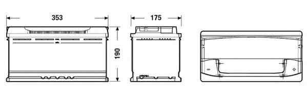 Baterie de pornire CITROËN JUMPER bus (230P) Producator EXIDE EA1000