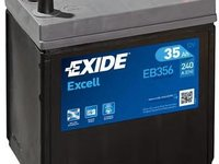 Baterie de pornire DAIHATSU MIRA Mk III (L201), DAIHATSU MIRA  (L55, L60), DAEWOO TICO (KLY3) - EXIDE EB356