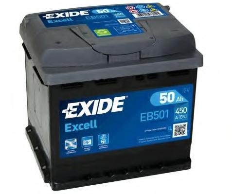 Baterie de pornire FIAT 850 cupe, FIAT X 1/9 (128 AS), FIAT STRADA Cabriolet - EXIDE EB501