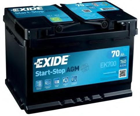 Baterie de pornire FIAT ULYSSE (220), VW SHARAN (7M8, 7M9, 7M6), ALFA ROMEO SPIDER (916S_) - EXIDE EK700