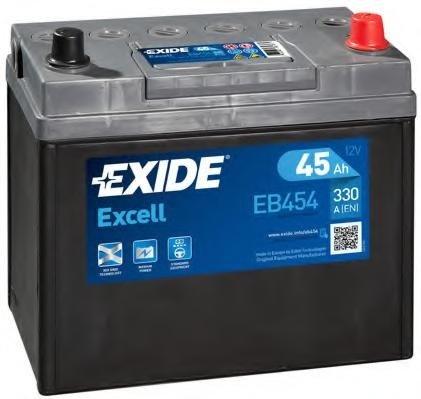 Baterie de pornire MAZDA 121  (DA), MAZDA 121 Mk II (DB), TOYOTA STARLET (_P7_) - EXIDE EB454