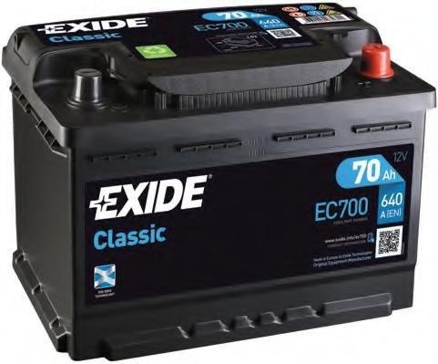 Baterie de pornire MERCEDES-BENZ COUPE (C123), MERCEDES-BENZ KOMBI Break (S123), MERCEDES-BENZ COUPE (C124) - EXIDE EC700