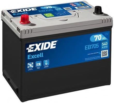 Baterie de pornire MITSUBISHI COLT Mk II (C1_A), MITSUBISHI COLT Mk III (C5_A), SEAT RONDA (022A) - EXIDE EB705