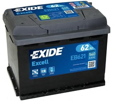 Baterie de pornire PEUGEOT J5 bus (280P), FIAT STRADA I (138A), LADA 1200-1500 combi - EXIDE EB621