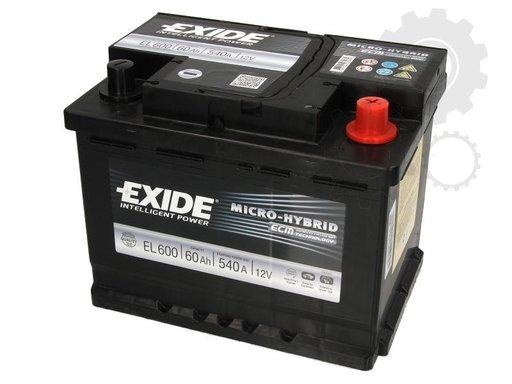 Baterie de pornire Producator EXIDE EL600