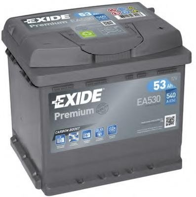Baterie de pornire RENAULT EXTRA caroserie (F40_, G40_), RENAULT CLIO  (B/C57_, 5/357_), PEUGEOT 106  (1A, 1C) - EXIDE EA530
