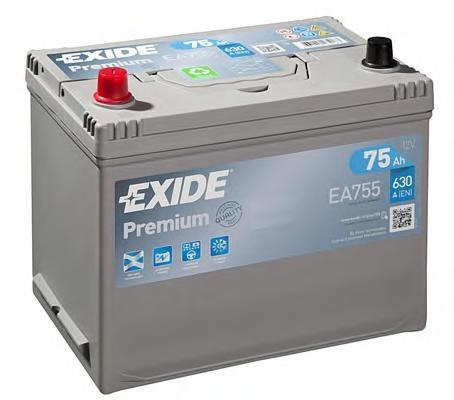 Baterie de pornire ROVER 100 / METRO (XP), MITSUBISHI DELICA bus (P0_W, P1_W, P2_W), TOYOTA LAND CRUISER (_J8_) - EXIDE EA755