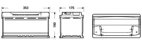 Baterie de pornire VW ILTIS (183), PEUGEOT J5 bus (280P), CITROËN RELAY bus (230P) - EXIDE EB950