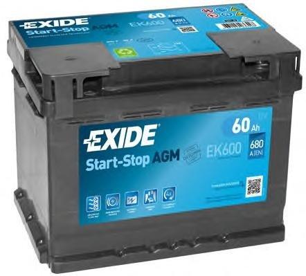 Baterie de pornire VW PHAETON limuzina (3D_), AUDI A3 (8P1), BENTLEY CONTINENTAL cupe - EXIDE EK600