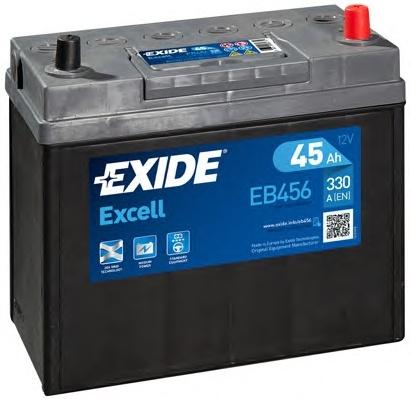 BATERIE EXIDE ASIA EXCELL 12V 45AH 300A 237X127X227 +DR (EB456)