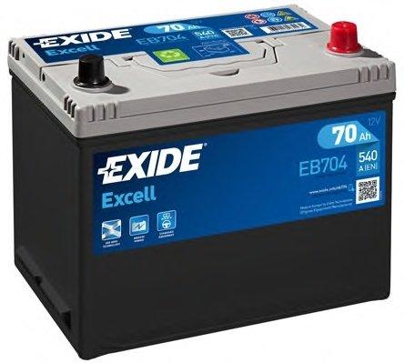 BATERIE EXIDE ASIA EXCELL 12V 70AH 540A 270X173X222 +DR (EB704)