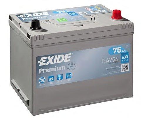 BATERIE EXIDE ASIA PREMIUM 12V 75AH 630A 270X173X222 +DR (EA754)
