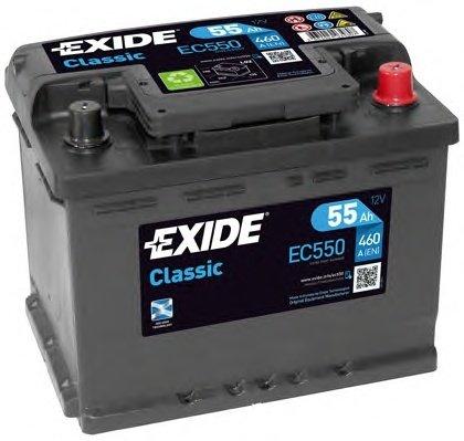 BATERIE EXIDE CLASSIC 12V 55AH 460A 242X175X190 +DR (EC550)