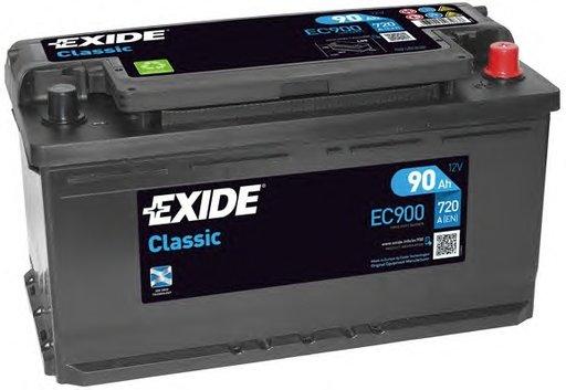 BATERIE EXIDE CLASSIC 12V 90AH 720A 353X175X190 +DR (EC900)