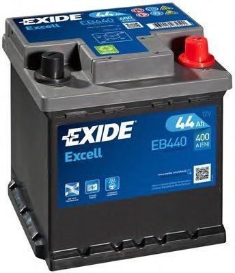 BATERIE EXIDE EXCELL 12V 44AH 400A 175X175X190 +DR (EB440)