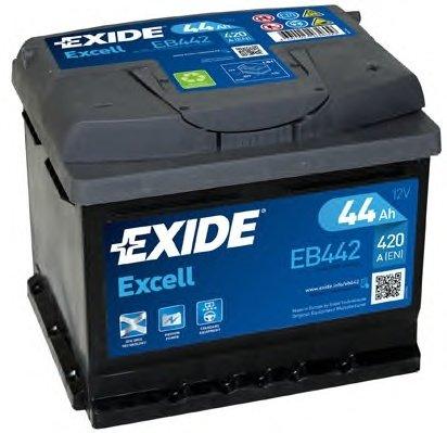 BATERIE EXIDE EXCELL 12V 44AH 420A 207X175X175 +DR (EB442)