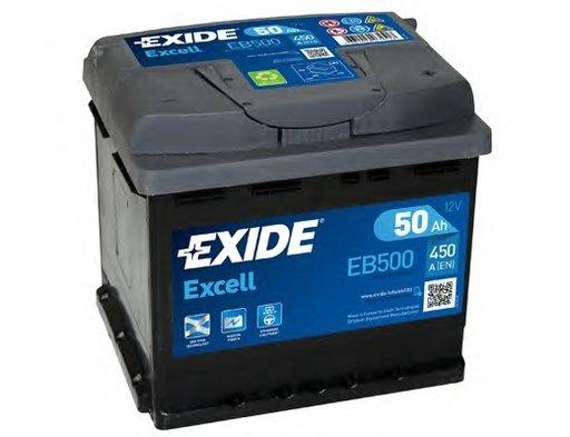 BATERIE EXIDE EXCELL 12V 50AH 450A 207X175X190 +DR (EB500)