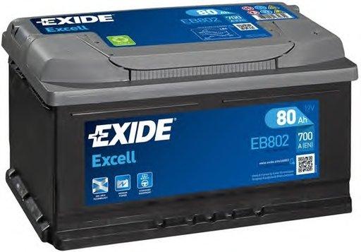 BATERIE EXIDE EXCELL 12V 80AH 700A 315X175X175 +DR (EB802)