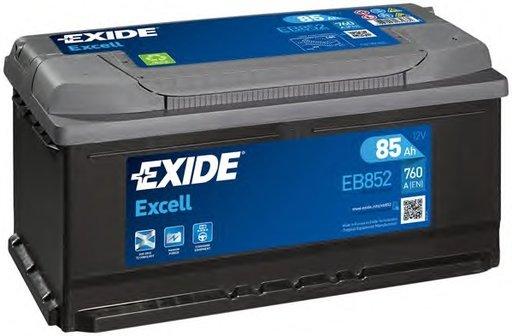 BATERIE EXIDE EXCELL 12V 85AH 760A 353X175X175 +DR (EB852)