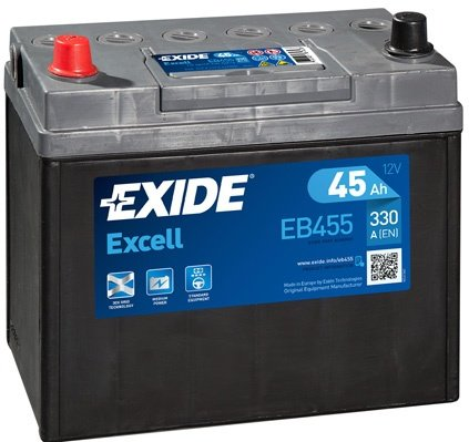 Baterie exide excell 45ah 330a