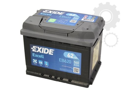 Baterie exide excell 62 ah 540a