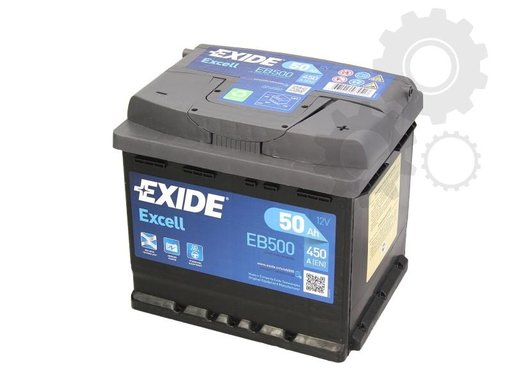 Baterie exide exell 50ah 450a
