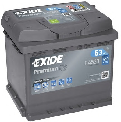 BATERIE EXIDE PREMIUM 12V 53AH 540A 207X175X190 +DR (EA530)