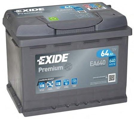 BATERIE EXIDE PREMIUM 12V 64AH 640A 242X175X190 +DR (EA640)