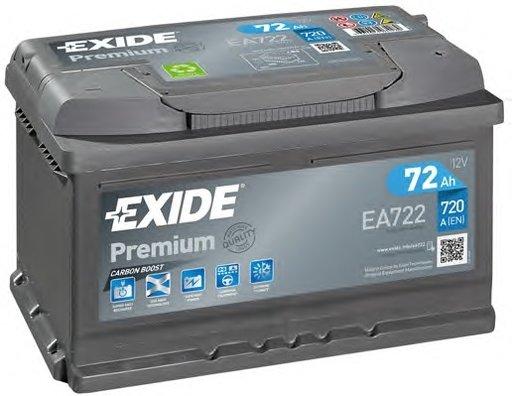 BATERIE EXIDE PREMIUM 12V 72AH 720A 278X175X175 +DR (EA722)